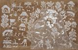 Untitled (The Man Who Would Not Work) (Warli Painting) - Jivya Soma Mashe - Modern and Contemporary South Asian Art and Collectibles