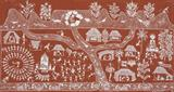 Untitled (The Catching Dance) (Warli Painting) - Jivya Soma Mashe - Modern and Contemporary South Asian Art and Collectibles