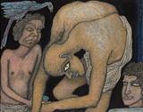 Situation `A` - Jogen  Chowdhury - Modern Indian Art