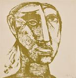 Head - Tyeb  Mehta - Modern and Contemporary South Asian Art and Collectibles