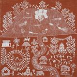 Untitled (Sweet Celebration) (Warli Painting) - Jivya Soma Mashe - Modern and Contemporary South Asian Art and Collectibles