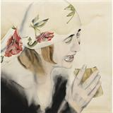 Mourner in Rose Print - Anju  Dodiya - Winter Online Auction: Modern and Contemporary South Asian Art and Collectibles