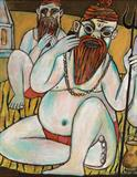 Sadhus at Leisure - Paritosh  Sen - Winter Online Auction: Modern and Contemporary South Asian Art and Collectibles