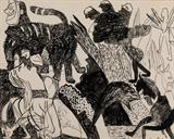 Compositional Sketch - K G Subramanyan - Creative Circuit: The Art of K G Subramanyan