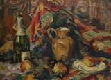 Still Life with Apples - Jehangir  Sabavala - The Curated Auction Series