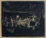 Tebhaga Movement - At The Night Meeting - Somnath  Hore - The Curated Auction Series