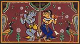 Untitled (Krishna and Radha) - Jamini  Roy - The Curated Auction Series