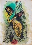 Mahishasura Mohini - M F Husain - Summer Online Auction