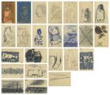 A Collection of Twenty-Four Works - M F Husain - Summer Live Auction