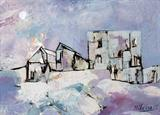 Untitled (Townscape with Lilac Sky) - Lancelot  Ribeiro - Summer Online Auction