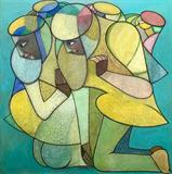Couple - Neeraj  Goswami - Art Rises for India: A Covid-19 Relief Fundraiser Auction by the Indian Art Community