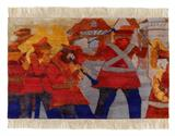 HAND EMBROIDERED CARPET BY KRISHEN KHANNA -    - Art Rises for India: A Covid-19 Relief Fundraiser Auction by the Indian Art Community