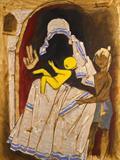 Untitled (Mother Teresa) - M F Husain - Summer Live Auction
