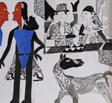 Untitled - K G Subramanyan - Art Rises for India: A Covid-19 Relief Fundraiser Auction by the Indian Art Community