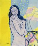 Maite  Delteil-Lady in Yellow Room