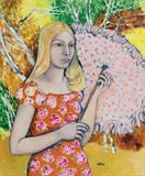 Maite  Delteil-The Pink Umbrella