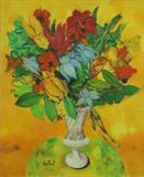 Maite  Delteil-The Vase of Porcelain