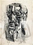 K M Adimoolam-Portrait of an old man - II