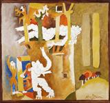 Living Goddess - M F Husain - Modern and Contemporary South Asian Art and Collectibles