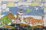 Untitled - M F Husain - Modern and Contemporary South Asian Art and Collectibles