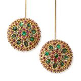 PAIR OF PERIOD GEMSET `KARNPHOOL` EARRINGS    -    - Fine Jewels, Silver and Watches